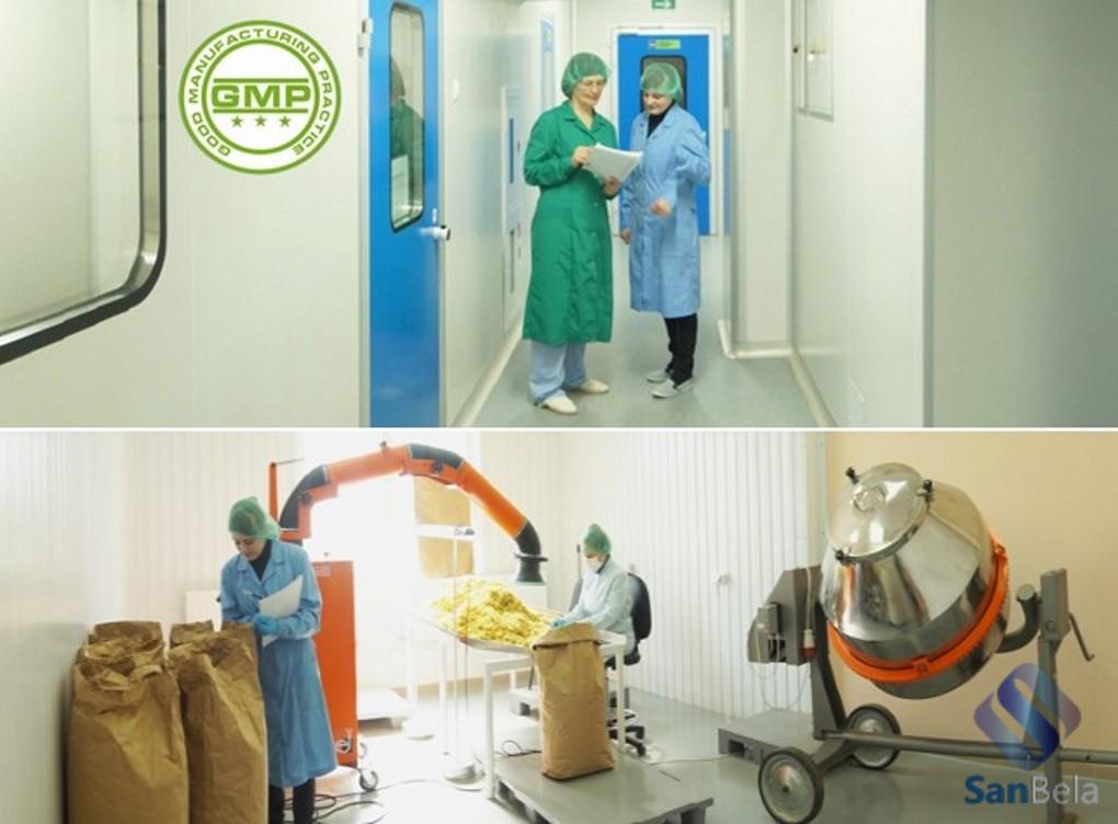 чистые помещения SANBELA соответствуют GMP