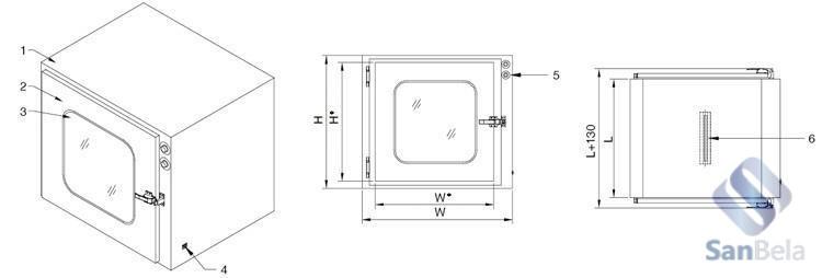 Купить передаточные окна для чистых помещений